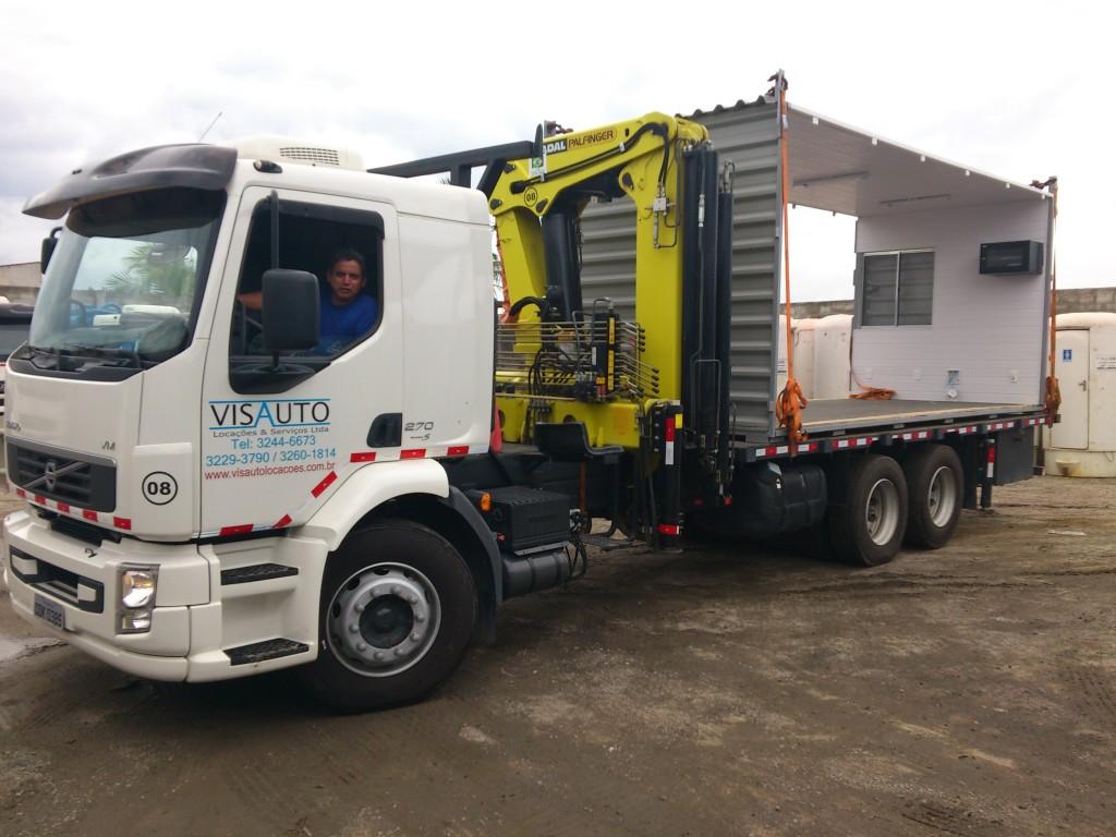 Locação Caminhões Munck Caminhão Limpa Fossa Visauto Locações #A89423 1024x768 Banheiro Container Locação Sc